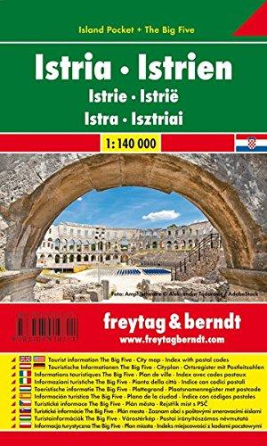 Istrien, Autokarte 1:140.000, Island Pocket + The Big Five: Toeristische wegenkaart 1:140 000 (freytag & berndt Auto + Freizeitkarten)
