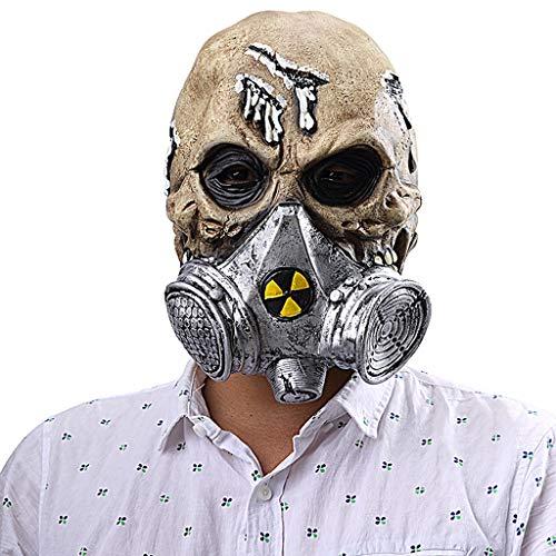 QMMD Halloween Kopfmasken - Gasmasken - Gruselige Latexmaske - für Kostümfest Requisiten Halloween