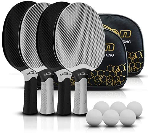 Senston Table Tennis Rackets Set Professional Ping Pong Paddle Set for 4 Players Composite Rubber product image
