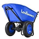 Landworks Super Duty Electric Powered Wheelbarrow Utility Cart 24V DC 180W AGM Battery Driven 330LBS (150kgs) Max Capacity & 4cu.ft. of Cubage Barrel Dump All Purpose Material Debris Hauler