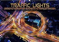 Traffic Lights - Grossstadtverkehr der schoensten Metropolen von oben (Wandkalender 2022 DIN A2 quer): Beeindruckende Luftaufnahmen vom Strassenlichterschein aufregender Weltstaedte (Monatskalender, 14 Seiten )