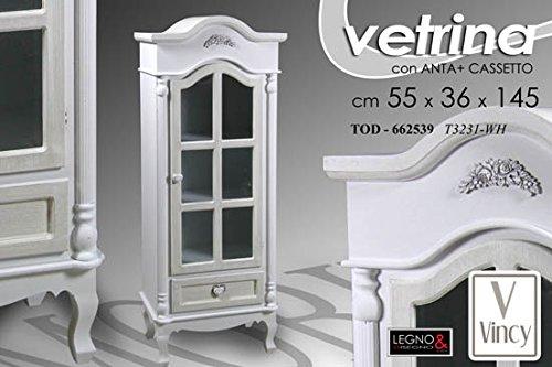 Mobile vetrina vetrinetta credenza madia mobile contenitore shabby chic 55X145CM art. 662539