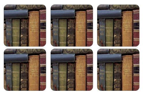 Pimpernel 10,5 x 10,5 cm avec Dos en MDF Livres à Archives-Dessous-de-Verre en liège-Set de 6