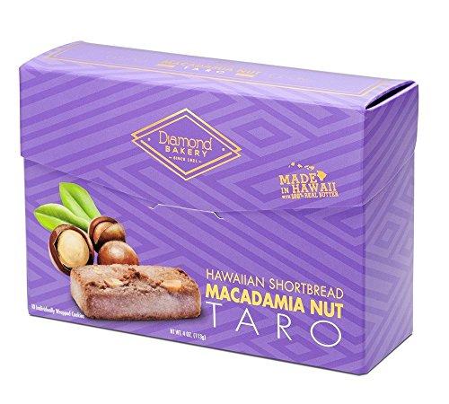 Diamond Bakery Premium Hawaiian Macadamia Nut Shortbread Cookies, Taro