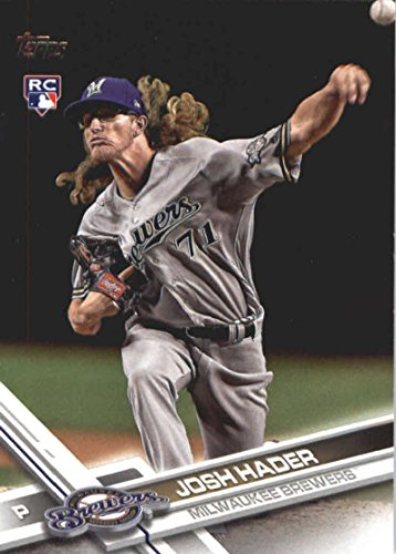 2017 Update Series #US209 Josh Hader Milwaukee Brewers Baseball Rookie Card