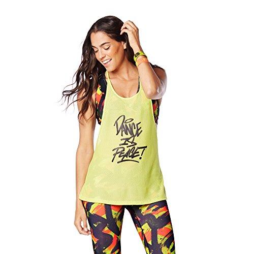 Zumba Fitness Dance Is Mesh Tank Camiseta sin Mangas, Mujer, Verde, M