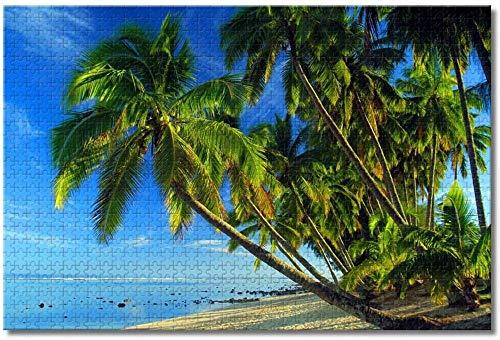 Puzzle- Islas Cook Titi Kawica - Rompecabezas de Playa para Adultos y niños, 1000 Piezas, Rompecabezas de Madera, Regalos, decoración Familiar,