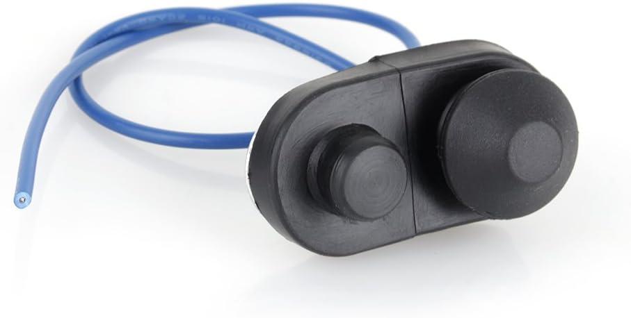 Interruptores de botón Interruptor de luz de puerta de coche Fydun, botón de interruptor de luz de puerta interior del vehículo alarma y parpadeo de apertura automática (negro)
