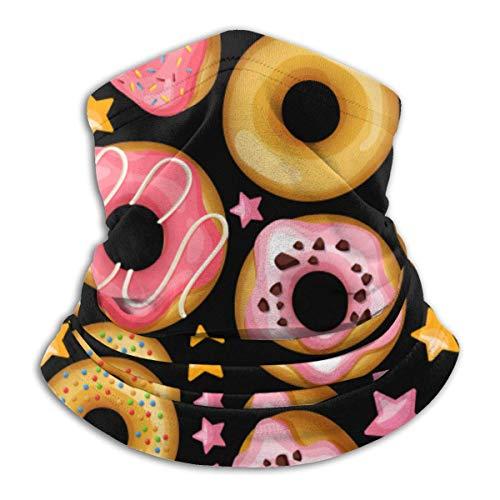 MoonW Donut Sweet Dessert Halswärmer Gamasche Fleece Ski Face Mask Cover für den Winter