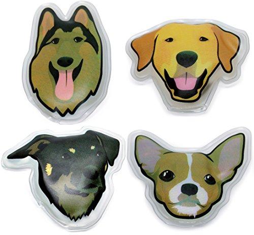 Filfia Calentadores de Manos Reutilizable, Juego de calientabolsillos de 4 Mochilas Motive para Perros