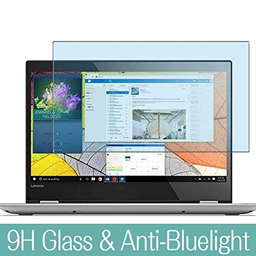 VacFun Filtro Luz Azul Vidrio Templado Protector de Pantalla para Lenovo Yoga 510 14' Visible Area, 9H Cristal Screen Protector Anti Blue Light Filter Película Protectora(Cobertura no Completa)