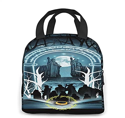 NIUPEE Le Seigneur des Anneaux Sac à Déjeuner Isotherme Anti-fuite Lunch Bag Fille Sac à Déjeuner Glacière Sac à Déjeuner Adulte Lunch Box Picnic/Travail/Ecole
