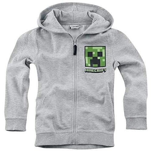 Minecraft Creeper Bambino Giacca con Cappuccio Grigio Sport 152