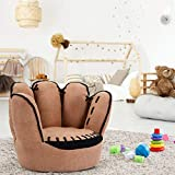 WealthyPlaza Living Room Armrest Chair Five Finger Style Baby Kids Sofa Couch Children Toddler Gift Home Space Saving Furniture Baseball Glove