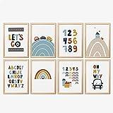 Mia Félice Kinderzimmer Deko » Let´s Go « Poster