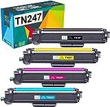 Do it wiser Cartucho de Tóner Compatible con Brother TN247 TN243 HL-L3210CW HL-L3230CDW HL-L3270CDW MFC-L3710CW MFC-L3730CDW MFC-L3750CDW MFC-L3770CDW DCP-L3510CDW DCP-L3550CDW (Paquete de 4)