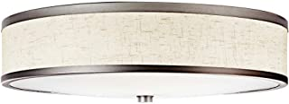 Kichler 10824CP Flush Mount 3-Light Fluorescent, Champagne