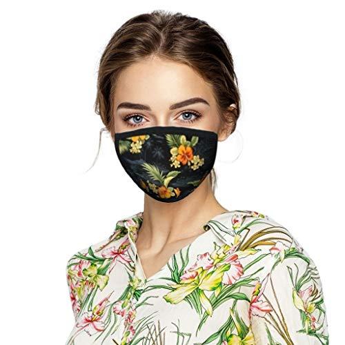 Mundschutz aus Baumwolle - Schmetterlingsdruck - Unisex Face Gesichtsschutz Wiederverwendbarer Waschbar Gesicht- und Atmung Schutz gegen Staub,Pollen,Abgase,Luftverschmutzung (J:1xCover + 2xFilter)