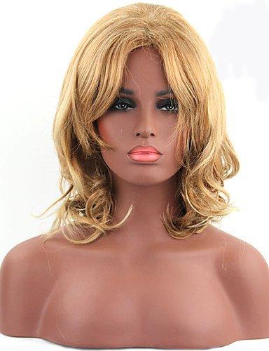 jiayy de couleur blond de longueur moyenne pelucas synthétiques de qualité supérieure de mode des femmes Blonde