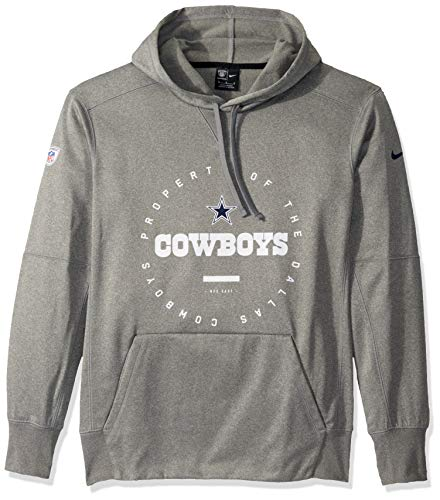 Dallas Cowboys Nike personale felpa con cappuccio, Bambino, Grigio scuro mélange, XXX-Large