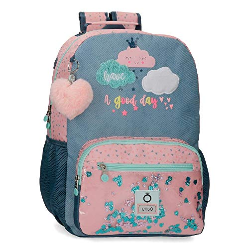 """Enso Good Day Zaino scolastico Porta Pc Multicolore 32x42x14 cms Poliestere 15,6"""" 18.82L"""