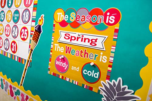 Teacher Created Resources (2685) Tropical Punch Calendar Bulletin Board Photo #5