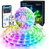 Govee 32.8ft Color Changing LED Strip Lights, Bluetooth LED Lights with App Control, Remote, Control Box, 64 Scenes and Music Sync Lights for Bedroom, Room, Kitchen, Party, 2 Rolls of 16.4ft