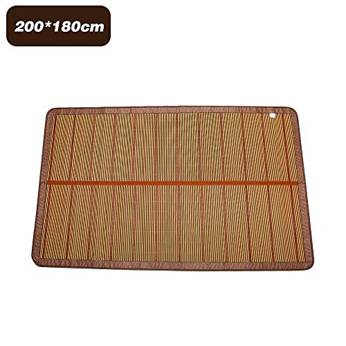 Hylotele Natürliche Bambusmatte Sommer Faltbare Bambusmatte Sommerkühlung Bettlakenbezug Meditationsmatte für drinnen draußen 180 * 200CM
