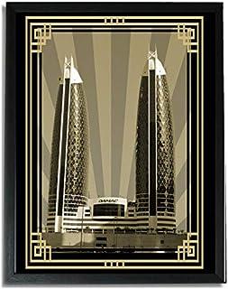صورة الدماك برج سيبيا مع إطار ذهبي بدون نص F09-NM (A4)