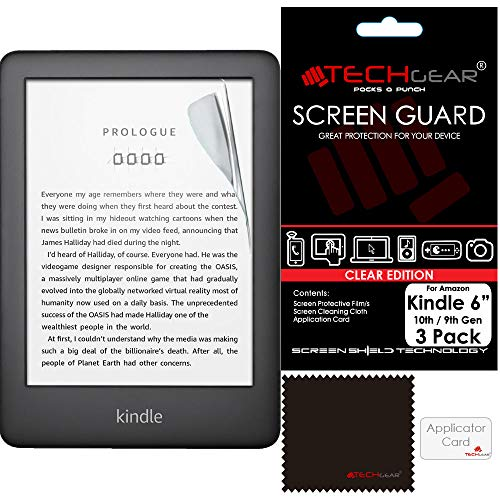 TECHGEAR [3 Pack] Screen Protectors Compatible with Amazon Kindle eReader...
