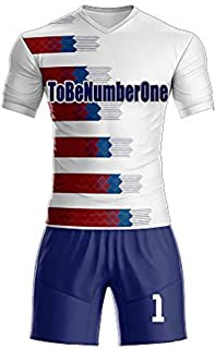 Custom Men's Sport Jersey Set Full Sublimated Soccer Uniform with Any Name,Number .2018 Classic Design