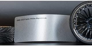 3M 1080 Satin White Aluminum | S120 | Vinyl CAR WRAP Film (Sample 2.5in x 4in)