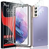 TAURI 6 Pack Protector de Pantalla para Samsung Galaxy S21 5G,Contiene 3 Pack Cristal Vidrio Templado y 3 Pack Protector de Lente de cámara,Doble Protección alineación Instalación fácil