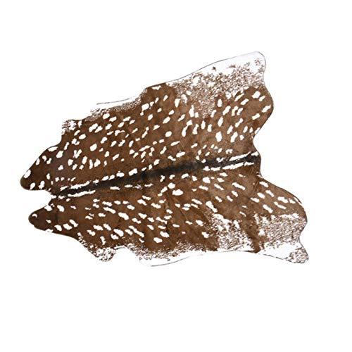 Faux Kuhfell Deer Haut Boden Teppich Imitation Tierhaut Form Handgefertigte Leder...