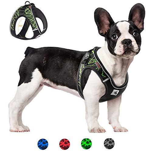 Pettorina per cani regolabile, traspirante, confortevole, riflettente di notte, adatta a cani di piccola, media e grande taglia, molto adatta per l'allenamento a piedi