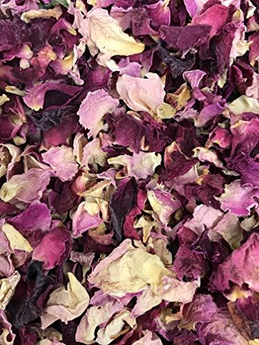 Natürliches Blüten-Konfetti, 1 Liter, biologisch abbaubar, viele Farben, Typen und Mischungen erhältlich Vintage Burgunderrot