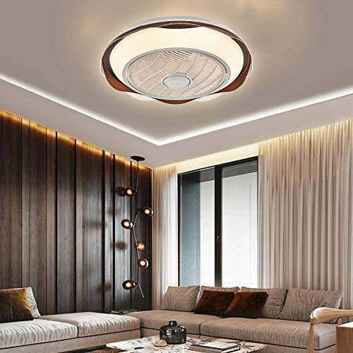 Lámpara de techo LED de 20 pulgadas, 70 W regulable velocidad del viento luz de ventilador de techo de acrílico + metal, silencioso, lámpara de 3 colores de luz con mando a distancia para dormitorio