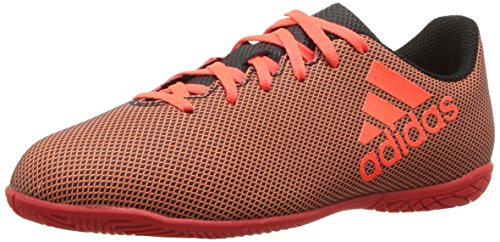 adidas Boys' X 17.4 in J Soccer Shoe, Black Red/Solar Orange, 13 M US Little Kid