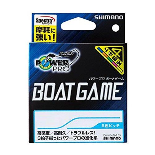 シマノ(SHIMANO) PEライン パワープロ ボートゲーム 300m 3.0号 マルチカラー PP-F72N 釣り糸 ライン 3号
