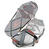 Yaktrax Medium (Shoe Size: W 10.5-12.5/M 9-11), Gray/Red