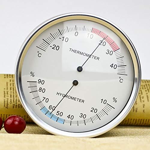 JUZEN 132Mm Zeigertyp Bimetall Haushaltslagertemperatur Krankenhaus Abstellraum Meter Hygrometer