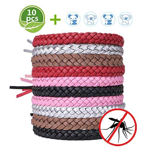 ACTOPP Mückenschutz Armband Moskito Armband 10 Stück Repellent Armbänder mit 12 Insektenschutz Aufkleber Insektenschutz Mücken Armband Anti Mückenarmband Mücken Gürtel Schutz gegen Mücken Insekten