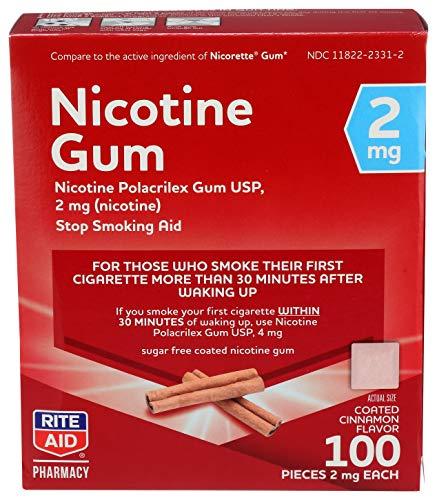 Rite Aid Nicotine Gum, Coated Cinnamon Flavor, 2...