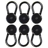 Comfy Clothiers 6 Pants Button Extenders for Pants, Khakis and Dress Slacks Waist Comfort (6 - Black)
