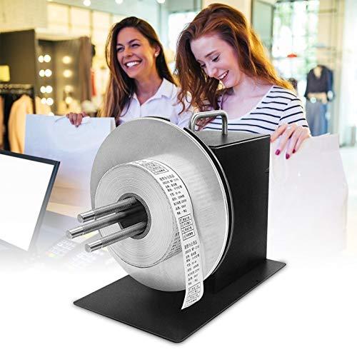 TOPQSC Label Rewinder 180MM Label Tags Rewinder 1-3 Inch Core Automatic Label Rewinding Machine for...