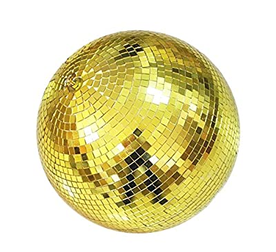 Lightweight Glass Party Disco Mirror Ball For Bar Stage DJ Party Light, 8 inch, gold
