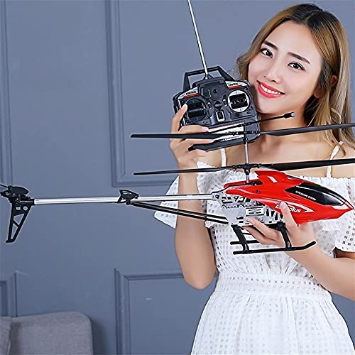 WANIYA1 One Key Off/Landing RC BC Electric Helicopter 3.5 Canal Super Large RC Helicopter Aircraft con luz LED 2.4GHz Control Remoto Helicóptero para Niños Adolescentes Regalos (Size : 2 Battery)