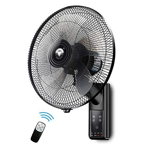 MAMINGBO 16 pulgadas Montaje en pared Ventilador oscilante Refrigeración por aire Funcionamiento silencioso 3 velocidades ajustables con temporizador y control remoto for la oficina doméstica y el dor