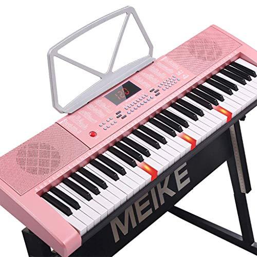 ZXL Digital Piano Kinder 's Intelligentes E-Piano 61-Tasten Multifunktionales Musiktraining Anfänger Klavier Einstieg Übung Toy Piano (Farbe :),Bb
