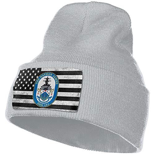 USS Nathan James Men & Women Beanie Cap Winter Hat Knit Cap Skull Cap Gray